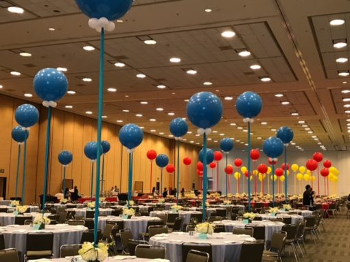 3 Balloon And Marker Decor